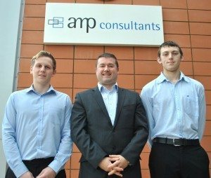 AMP Consultants, apprentice, apprenticeship, engineering, expansion, Darlington, structural engineering apprentices, PR, press shot, Harvey & Hugo