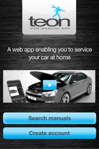 Car app, Teon, North East, National, Andriod, IPhone, servicing the car, Service manual, free car app, service your car yourself, PR, Harvey & Hugo