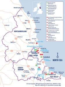 North East of England Map