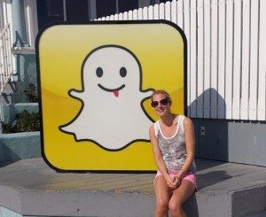 Charlotte Nichols outside Snapchat HQ in LA