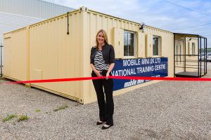 Mini Mobile Liverpool National Training Centre opening