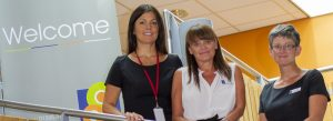 Angela Wilkinson (Business Manager), Tracy Henderson (Centre Administrator), Julie Turnbull (Centre Administrator) at The Work Place