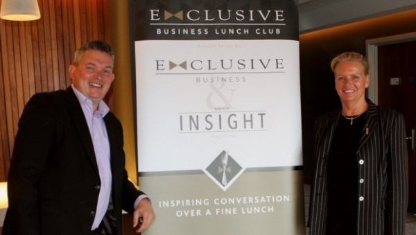 Michael Grahamslaw and Linda Hitman of the Exclusive Business Lunch Club