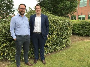 (L – R) Paul Drake, operations director at Sapere and Martin McKinnell, senior associate and technology associate at Endeavour Partnership.