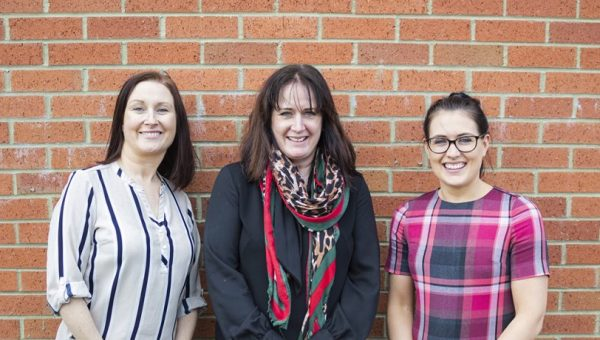 Operations Manager Julie Sanderson, Managing Partner and Head of Corporate and Commercial Property, Elaine McLaine-Wood and Solicitor Helen Snell
