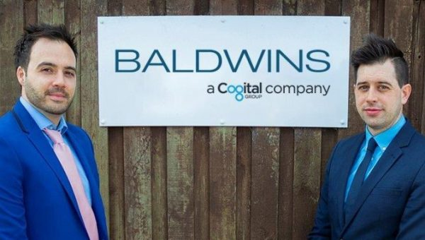 Baldwins' Partner Jon Gresham and new associate directors Tom Gale and Louise Watson
