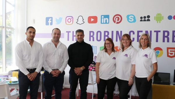 Hamza Din, Phil Crowther, Nasser Din, Lorraine Brown, Sarah Whittaker and Lisa Spark at The Robin Centre, Middlesbrough