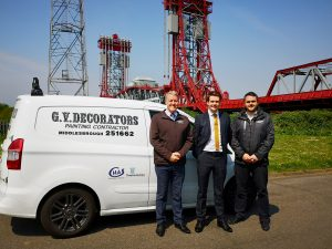 Chris Veazey of GV Decorators, Luke Hopkins of Anderson Barrowcliff and Gary Veazey of GV Decorators