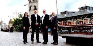From left, Partners Tanya Bloomfield, Alex Spurr, Peter Furness and Alister Jones