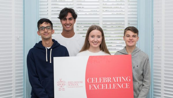 Pupils celebrate their Red House School GCSE results
