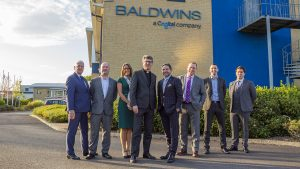 Baldwins staff at the firm's new Durham office
