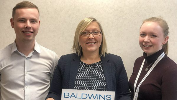 Baldwins' Associate Thomas Broken, Partner Louise Highton and Associate Elle Seel