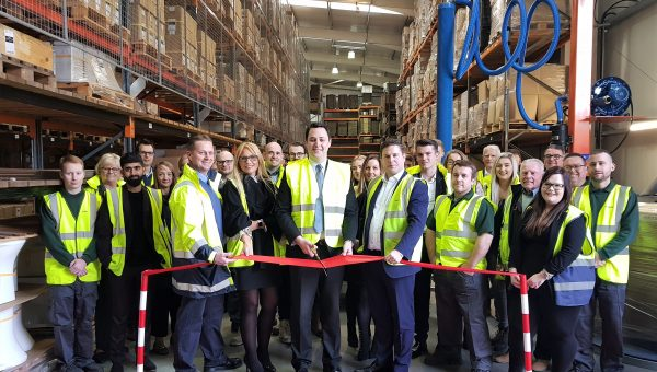 Tees Valley Mayor Ben Houchen officially opened NYMAS' refurbished warehouse